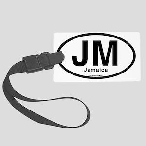 JM - Jamaica oval Large Luggage Tag