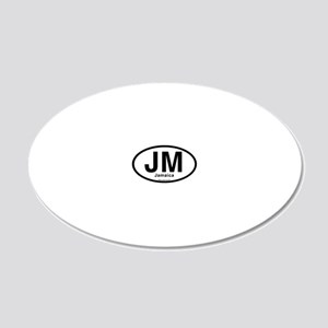 JM - Jamaica oval 20x12 Oval Wall Decal