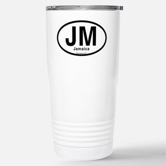 JM - Jamaica oval Stainless Steel Travel Mug