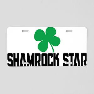 Shamrock Star Aluminum License Plate