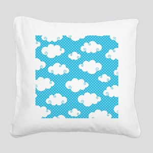 In The Clouds Square Canvas Pillow