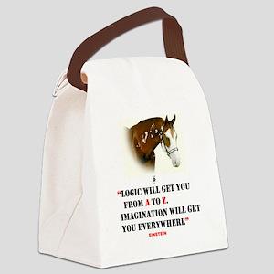 Einstein: Imagination Will Get Yo Canvas Lunch Bag