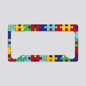 Autism Awareness Puzzle Piece License Plate Holder
