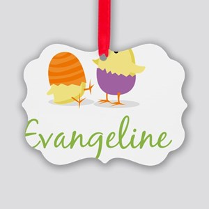 Easter Chick Evangeline Picture Ornament