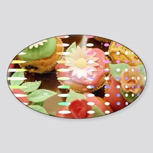 Cupcake Dreams Cat Forsley Designs Sticker (Oval)