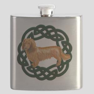 Celtic Longhair Dachshund Flask