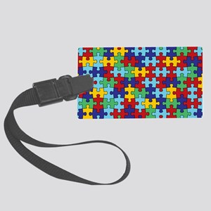 Autism Awareness Puzzle Piece Pa Large Luggage Tag