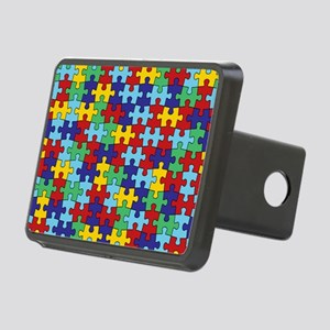 Autism Awareness Puzzle Pi Rectangular Hitch Cover