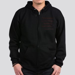 Moderation In All Things Zip Hoodie (dark)