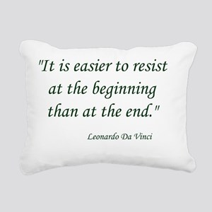 Resist Rectangular Canvas Pillow
