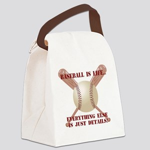 Baseball is Life... Canvas Lunch Bag