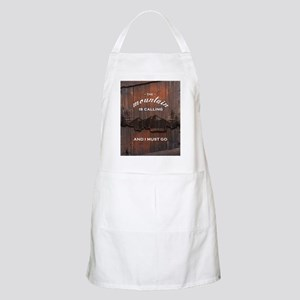 the mountain is calling and i must go poster Apron