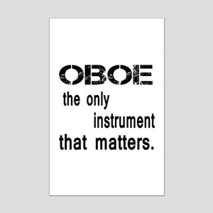 Oboe the only instruments that m Mini Poster Print