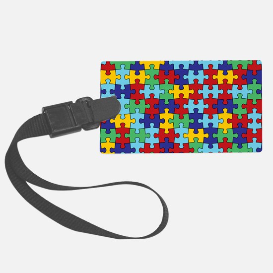 Autism Awareness Puzzle Piece Pa Luggage Tag