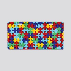 Autism Awareness Puzzle Pie Aluminum License Plate