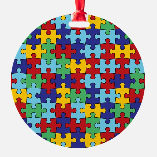 Autism Awareness Puzzle Piece Patte Ornament