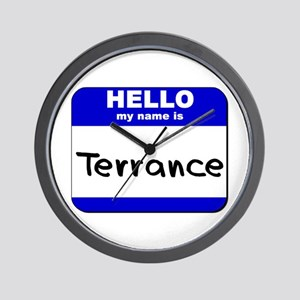 hello my name is terrance  Wall Clock
