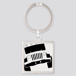 Jeepster Rock Crawler Square Keychain