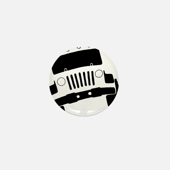 Jeepster Rock Crawler Mini Button