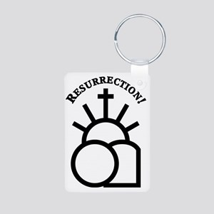 Resurrection Aluminum Photo Keychain