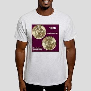 1938 New Rochelle Silver Half Dollar Light T-Shirt