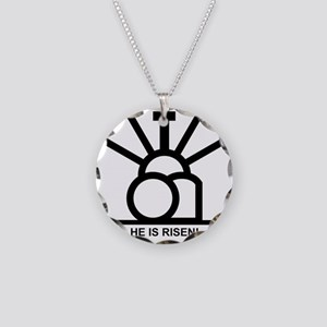 """""""HE IS RISEN!"""" Necklace Circle Charm"""