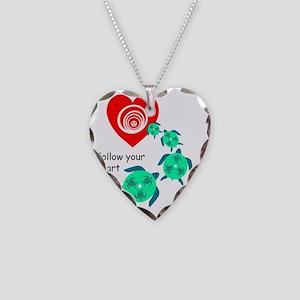 SEA TURTLE HEART Necklace Heart Charm