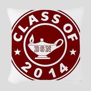 Class Of 2014 BSN Woven Throw Pillow