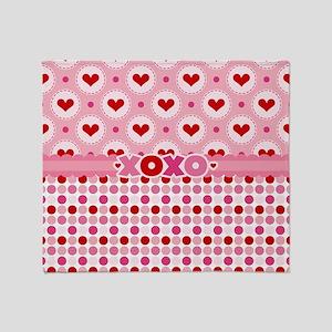 Hearts and XOXO Throw Blanket