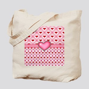Red Heart Pink Heart Tote Bag