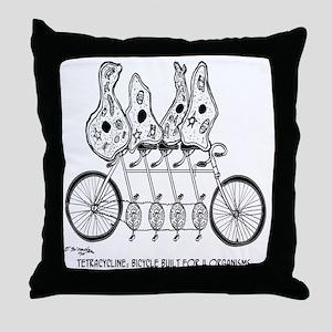 Tetracycline: Bike Built For Four Throw Pillow