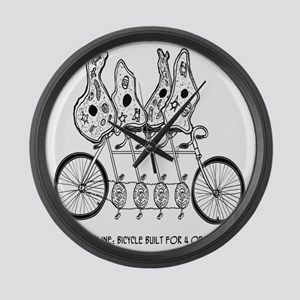 Tetracycline: Bike Built For Four Large Wall Clock