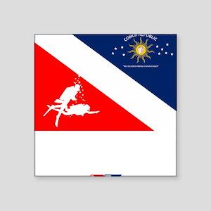 """Dive Key West Square Sticker 3"""" x 3"""""""