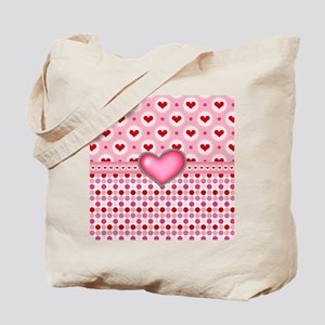 Red Hearts Pink Heart Tote Bag