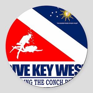 Dive Key West Round Car Magnet
