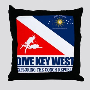 Dive Key West Throw Pillow