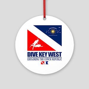 Dive Key West Round Ornament