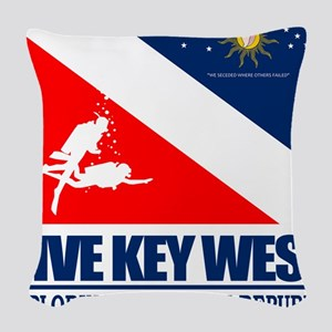 Dive Key West Woven Throw Pillow