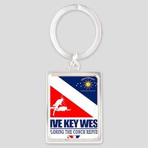 Dive Key West Portrait Keychain