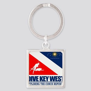 Dive Key West Square Keychain
