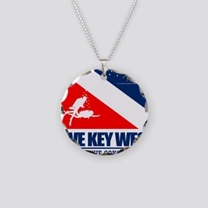 Dive Key West Necklace Circle Charm