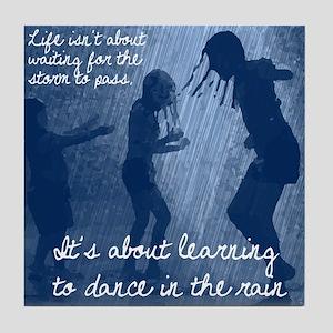 Dancing in the Rain Tile Coaster