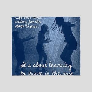 Dancing in the Rain Throw Blanket