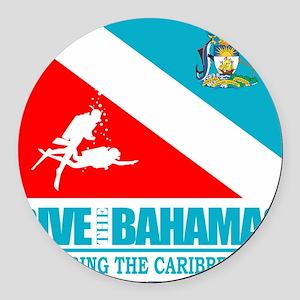 Dive Bahamas Round Car Magnet