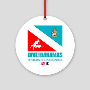 Dive Bahamas Round Ornament