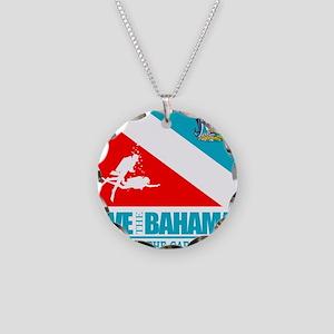 Dive Bahamas Necklace Circle Charm