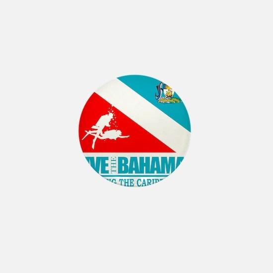 Dive Bahamas Mini Button