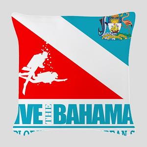 Dive Bahamas Woven Throw Pillow