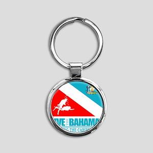 Dive Bahamas Round Keychain