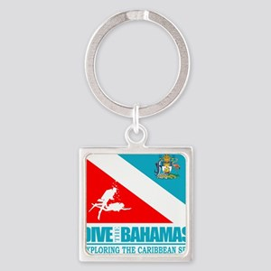 Dive Bahamas Square Keychain